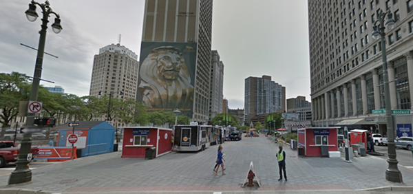 Cadillac Square will turn into a giant beer garden this summer. - COURTESY OF GOOGLE