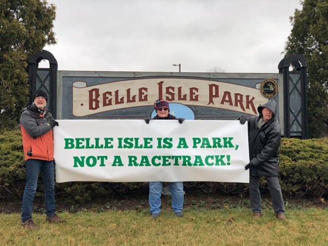 A group of residents is planning a protest at Belle Isle's entrance. - COURTESY PHOTO