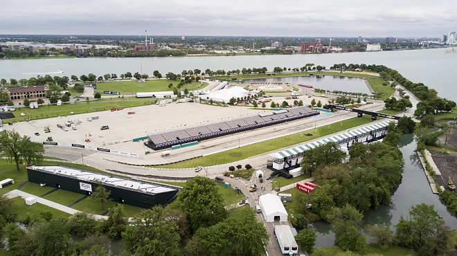 Park or race track? Belle Isle pictured in May 26, 2017. - JAMES PIEDMONT