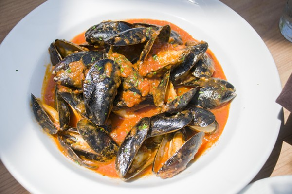 Mussels at Armando's - TOM PERKINS