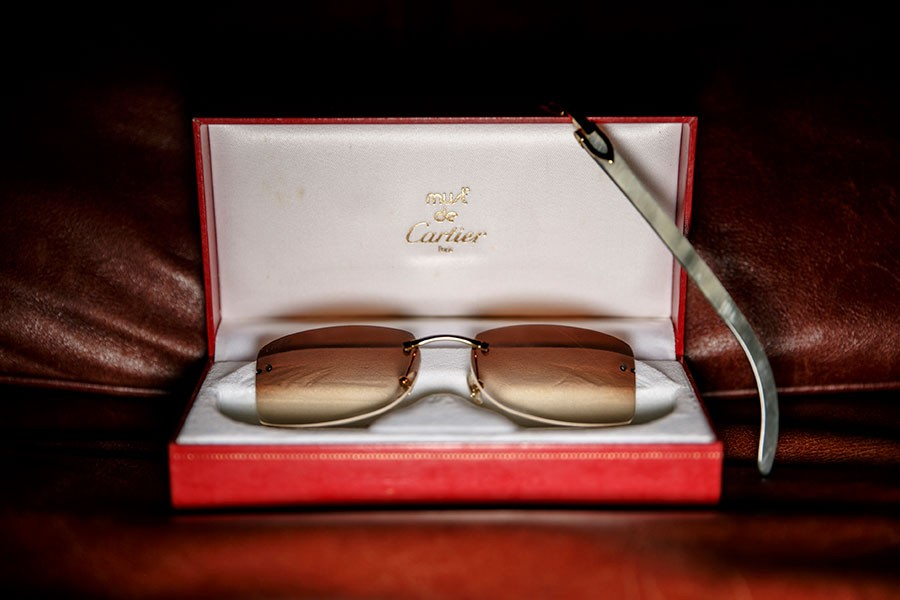 The whiter the Buffs, the more coveted the frames — Cartier's C Décor white buffalo horn frames have become a status symbol in Detroit. - SEAN PROCTOR