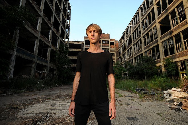 Windsor native Richie Hawtin outside Detroit's infamous Packard Plant - WIKIMEDIA COMMONS