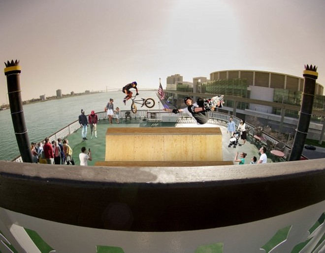 Artist rendering of what a halfpipe on the Detroit Princess would look like - COURTESY PHOTO