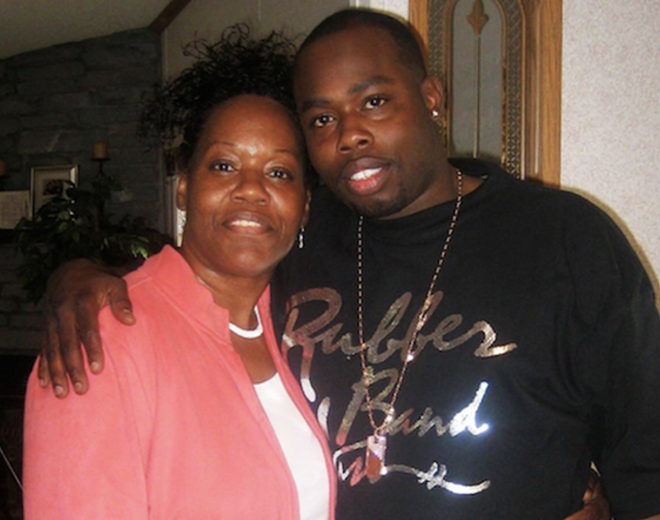 David Ware and his mother, Maudess Sutton. - COURTESY PHOTO