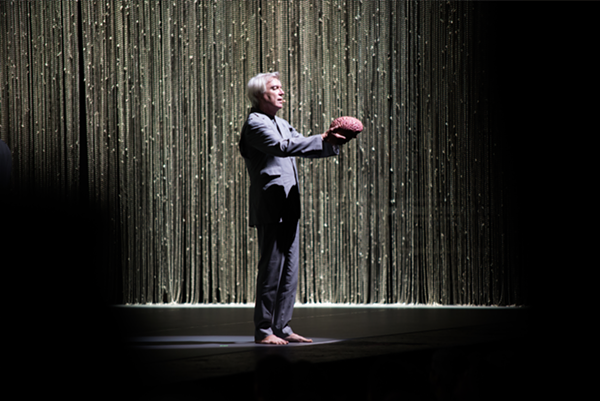 David Byrne baring his brain. - PHOTO BY AUSTIN EVANS EIGHMEY