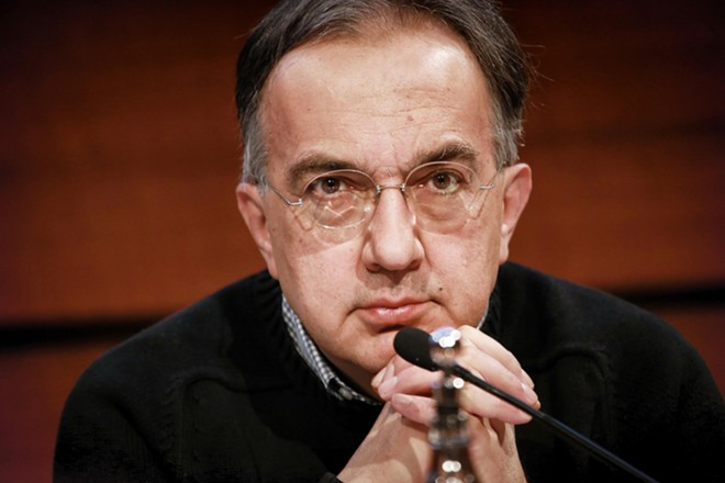 Fiat-Chrysler's Sergio Marchionne was investigated in a scheme to bribe union bosses. - COURTESY PHOTO