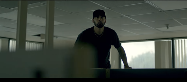 "Eminem is haunted by his critics in ""Fall"" video - SCREEN GRAB"
