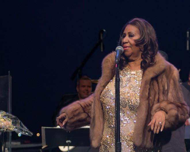 Aretha Franklin performing at Chene Park in 2015. - STEVEN HAUPTMAN