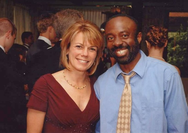 Francis Anwana, right, and his first American teacher, Diane Newman. - DIANE NEWMAN