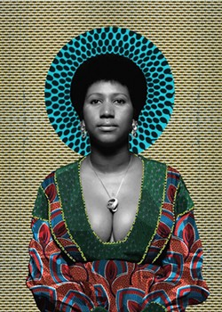 Aretha Franklin portrait by artist Makeba Rainey. - COURTESY PHOTO