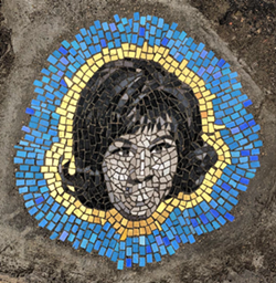 """Aretha Franklin"" mosaic located at Rivard and Adelaide. - JIM BACHOR"