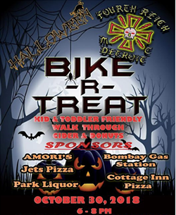 Flyer for the Bike-R-Treat event hosted by Fourth Reich Motorcycle Group.