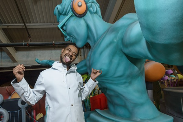 Danny Brown photographed at the Parade Company in Detroit. - ALL PHOTOS BY DOUG COOMBE