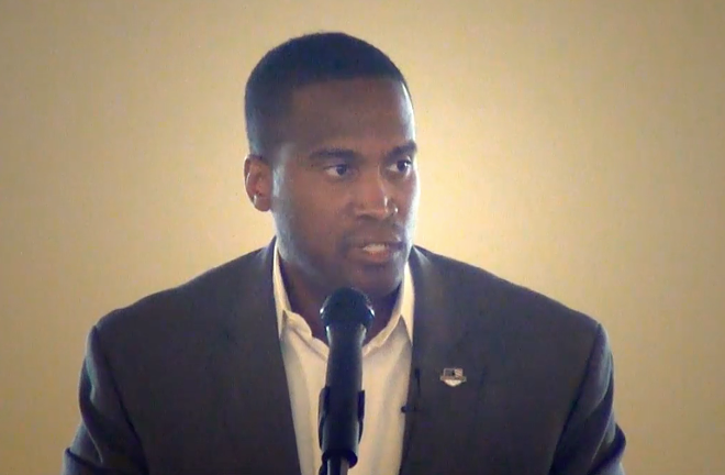 John James took money from white supremacists. - SCREEN GRAB
