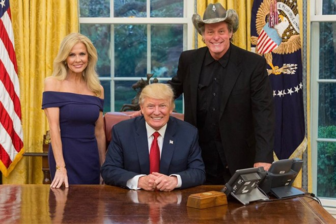 This is a horrifying Christmas card - PHOTO VIA TED NUGENT'S FACEBOOK.