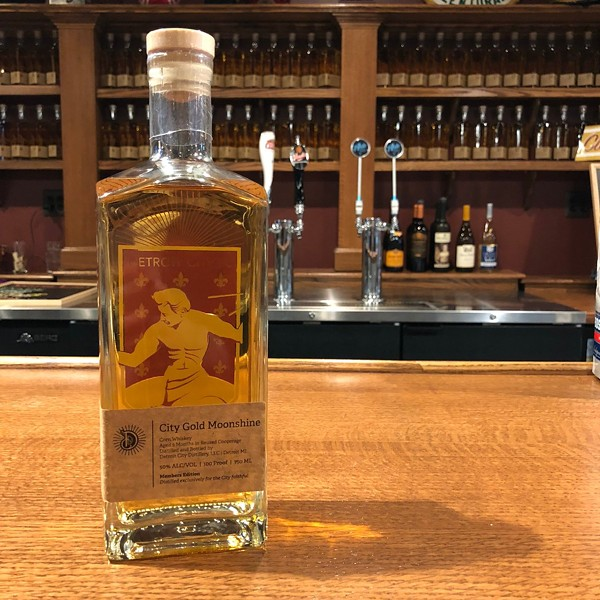 Detroit City FC's City Gold Moonshine made by Detroit City Distillery. - TWITTER @DETROITCITYFC