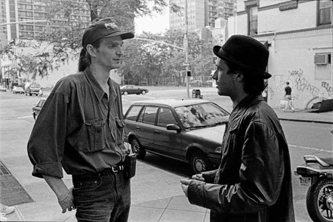 Dave Lory with Jeff Buckley. - PHOTO PROVIDED BY THE AUTHOR, BY MERRI CYR
