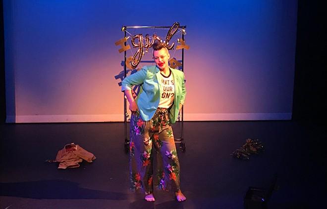 Kristi Faulkner performs at the Detroit Fringe Festival on Thursday. - COURTESY PHOTO