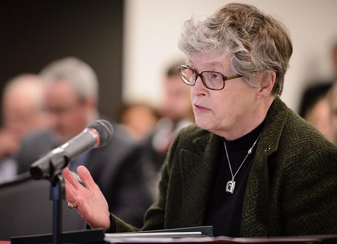 Former Michigan State University President Lou Anna Simon. - MISPARTAN IMPACT, VIA WIKIMEDIA COMMONS