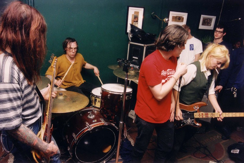 The Laughing Hyenas playing at Detroit's former Zoot's Coffee House circa 1994. - DOUG COOMBE