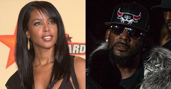 Aaliyah in 2001. R. Kelly in 2016. - JAMIE LAMOR THOMPSON   FEATUREFLASH PHOTO AGENCY (SHUTTERSTOCK.COM)