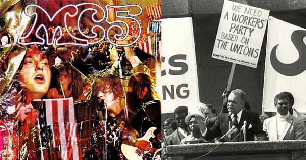 "Left: The MC5 implored its audience to ""Kick out the jams, motherfucker!"" on its 1969 debut. Right: Detroit Mayor Coleman Young, pictured in 1981, referred to himself as the ""Motherfucker in Charge."" - COLEMAN YOUNG PHOTO BY EINAR EINARSSON KVARAN"