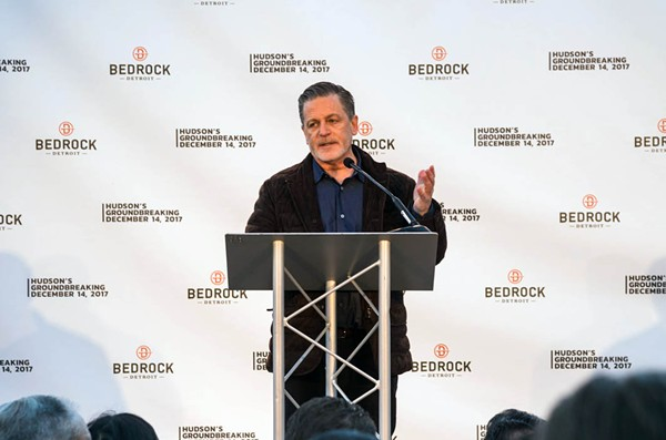 Dan Gilbert at the groundbreaking for the Hudson site project. - JORDAN BUZZY