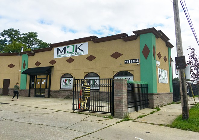 Motor City Kush is one of less than a dozen medical marijuana provisioning centers still open in Detroit following a state licensing crackdown. - LEE DEVITO