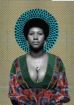 Aretha Franklin portrait by Makeba Rainey - COURTESY OF IRWIN HOUSE GALLERY