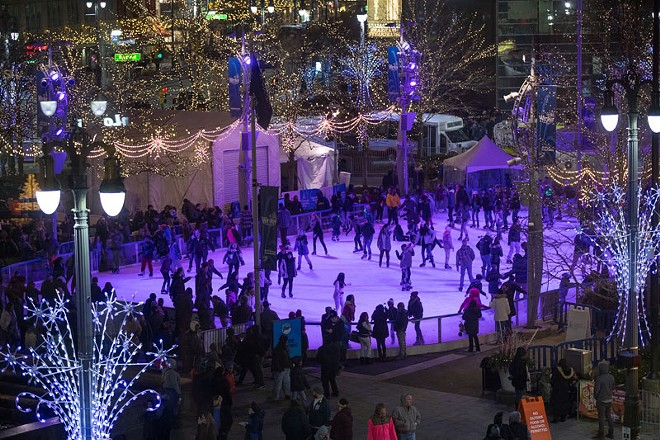 The Rink at Campus Martius. - COURTESY QUICKEN LOANS WINTER BLAST WEEKENDS