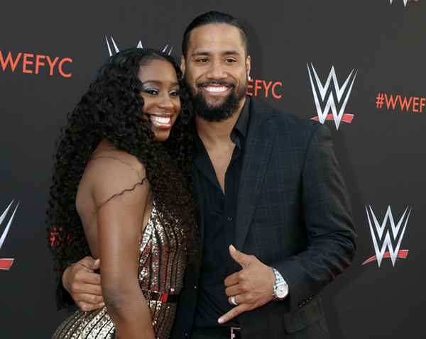 Jimmy Uso and wife Naomi. - KATHY HUTCHINS / SHUTTERSTOCK.COM