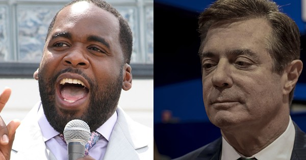 Former Detroit Mayor Kwame Kilpatrick and former Trump campaign manager Paul Manafort. - SHUTTERSTOCK