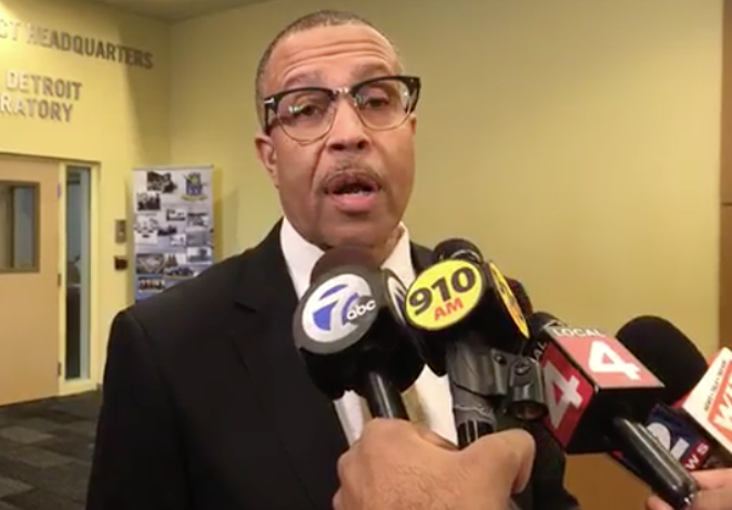 Detroit Police Chief James Craig. - SCREENSHOT FROM DETROIT POLICE DEPARTMENT PRESS CONFERENCE LIVESTREAM