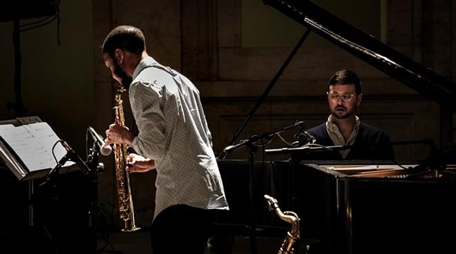 Marcus Elliot and Michael Malis of jazz duo Balance. - COSTA KAZALEH SIRDENIS