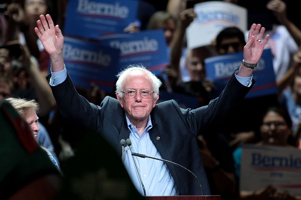 Sanders at a town meeting in Phoenix, Arizona, July 2015 - PHOTO BY GAGE SKIDMORE