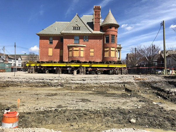 The David Mackenzie House was moved to the opposite side of the block to make way for a theater expansion. - STEVE NEAVLING