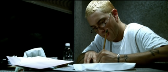 "Eminem finally writes back his crazed fan in 2000's video for ""Stan."" - SCREENGRAB/YOUTUBE"