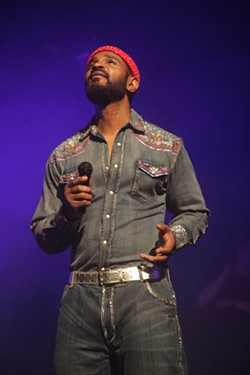 Chae Stephen as Marvin Gaye in Pride & Joy at the Fisher Theatre. - TYRONE HOLMES