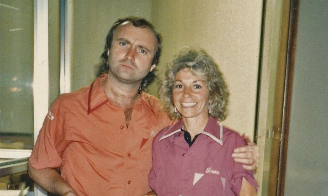 Phil Collins with Fran Belkin. - COURTESY OF AUTHOR