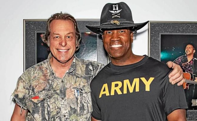 Ted Nugent and John James. - JOHN JAMES FOR U.S. SENATE CAMPAIGN