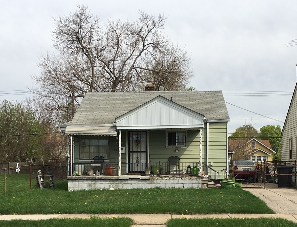 Mari Kirkendoll's Detroit home. Kirkendall fell behind on her taxes because they were based on the city's illegally inflated property tax assessments, which is a violation of state law. - MARYAM JAYYOUSI