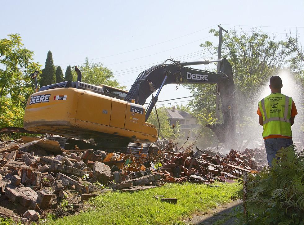 A demolition in Detroit. - STEVE NEAVLING
