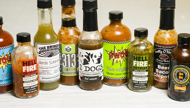 Michigan's hot sauces. - TOM PERKINS
