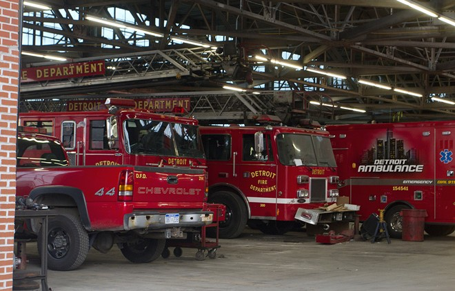 Detroit Fire Department's apparatus and repair shop near Eastern Market. - STEVE NEAVLING