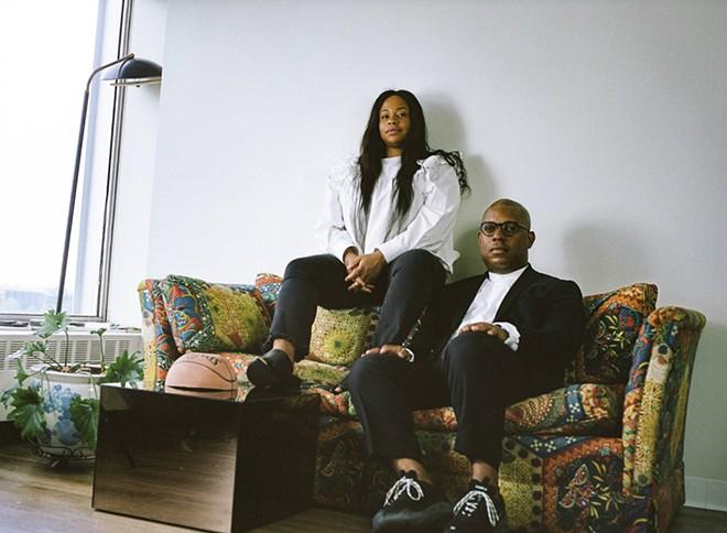 Aleiya Lindsey and Amani Olu, co-founders of Detroit Art Week. - JAY ADAMS