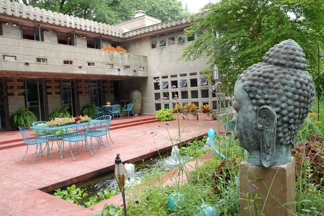 Frank Lloyd Wright Turkel home. - PHOTO BY BARBARA BAREFIELD