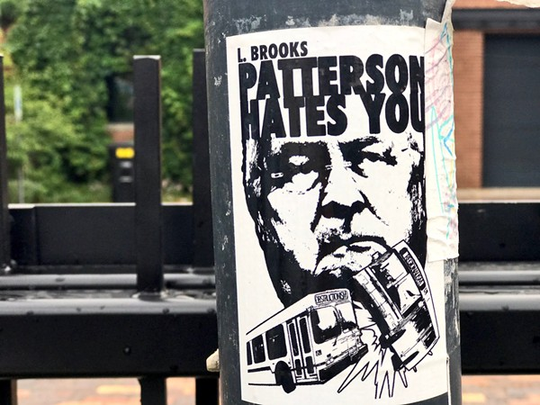 Anti-L. Brooks Patterson graffiti in Detroit. - STEVE NEAVLING