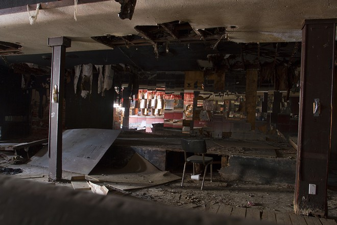 The crumbling stage before the fire. - STEVE NEAVLING