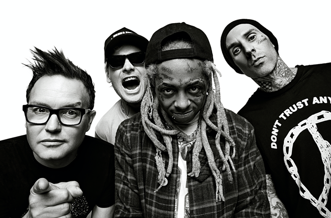 Blink 182 with Lil Wayne. - RANDALL SLAVIN