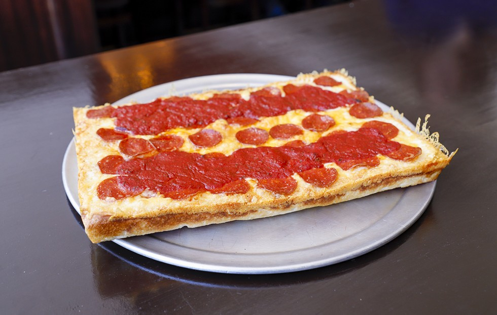 The classic Detroit-style pizza from Shield's. - BRIDGET EKIS